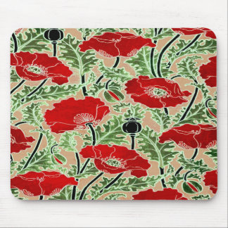 Red Poppy Mouse Pads