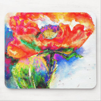 Red Poppy Mousepads