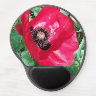 Red Poppy Mousepad Gel Mouse Pad
