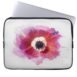 Red Poppy Neoprene Laptop Sleeve 13 inch #2