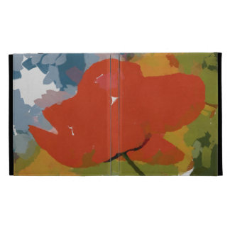 Red poppy painting iPad cases