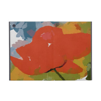 Red poppy painting covers for iPad mini