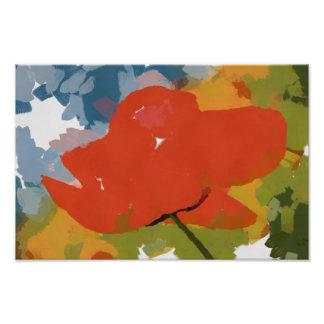 Red poppy painting photo print