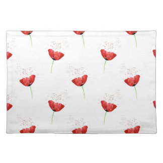Red Poppy Pattern Placemat