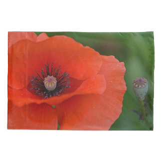 Red Poppy Pillowcase