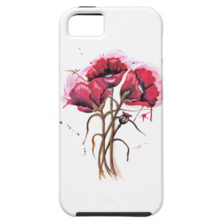 Red Poppy Watercolor iPhone 5 Covers