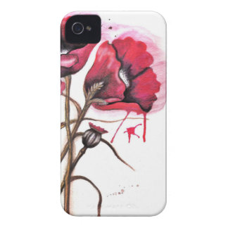 Red Poppy Watercolor Case-Mate iPhone 4 Case
