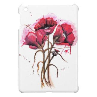 Red Poppy Watercolor iPad Mini Covers