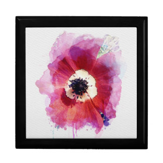Red Poppy Wooden  Jewellery Gift Box L #2