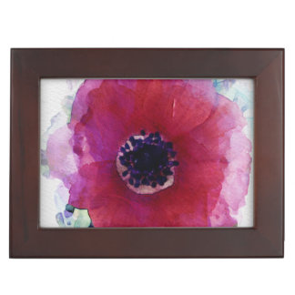 Red Poppy Wooden Jewellery Gift Box XL #1