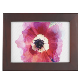 Red Poppy Wooden Jewellery Gift Box XL #2