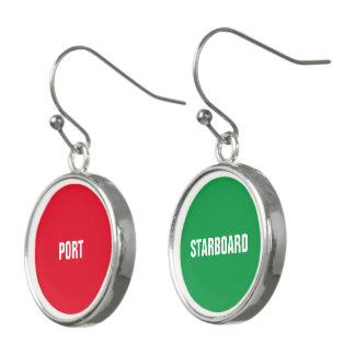 Red Port and Green Starboard Earrings