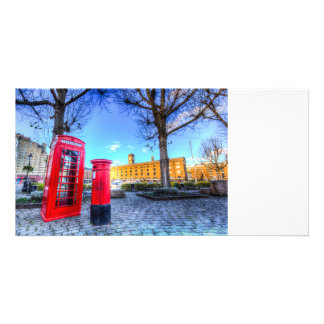 Red Post Box Phone box London Customised Photo Card