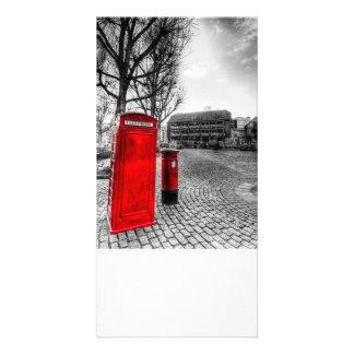 Red Post Box Phone box London Customised Photo Card