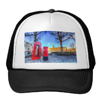Red Post Box Phone box London Mesh Hats