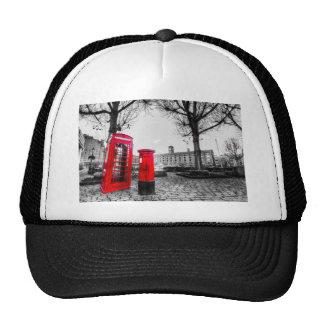 Red Post Box Phone box London Mesh Hat