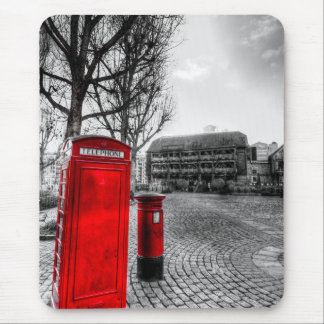 Red Post Box Phone box London Mousepad