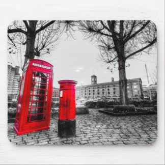 Red Post Box Phone box London Mouse Pads