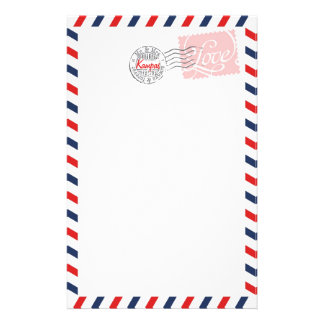 Red Postal Service Collection Stationery