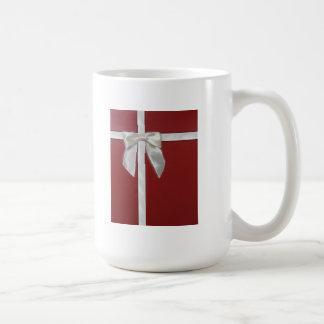 red present coffee mug