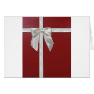 red present greeting card