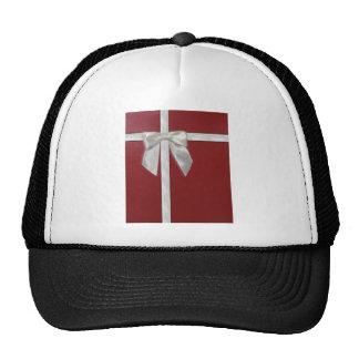 red present trucker hat