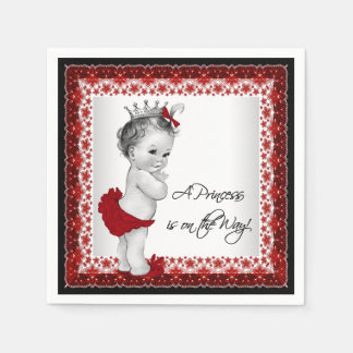 Red Princess Baby Shower Disposable Napkins