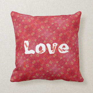 "red printed pilow from collection ""Poppy'' Cushion"