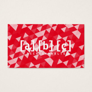red pro business card