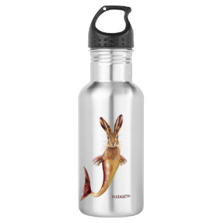 Red Psychedelic Haremaid Mermaid Hare Mix Funny 532 Ml Water Bottle