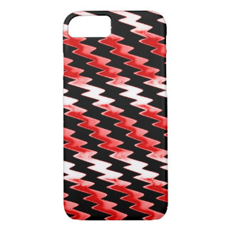 Red Psychedelic Lightning Pattern iPhone 7 Case