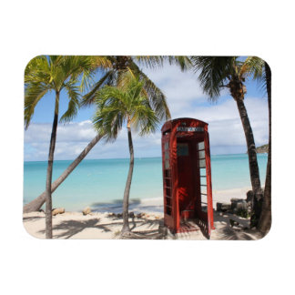 Red public Telephone Booth on Antigua Rectangular Magnet