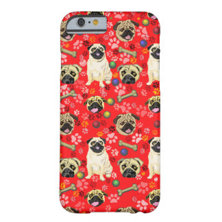 Red Pug Print Phone Cover