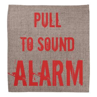 RED Pull to Sound Alarm Funny Bandana