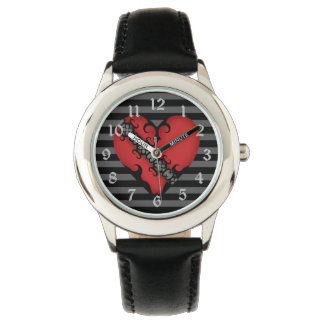 Red punk heart watch