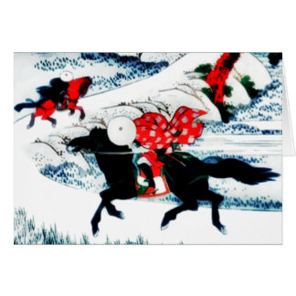 """red puppy """"horses in wind"""" card"""