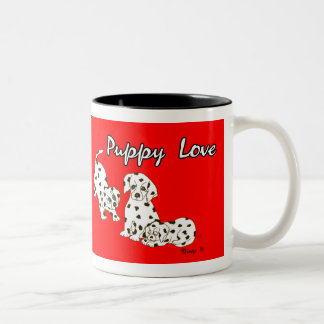 Red Puppy Love Mug