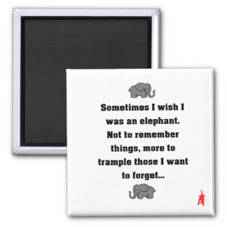 "red puppy ""sometimes I wish... elephant"" Magnet"