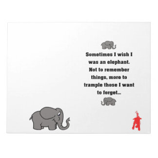 "red puppy ""sometimes I wish... elephant"" Notepad"