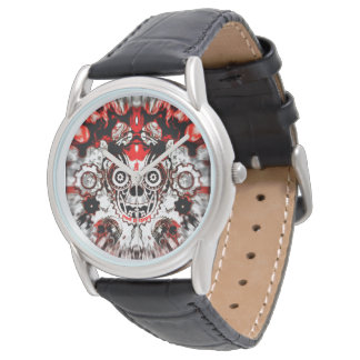 red puppy Warped Skull Watch