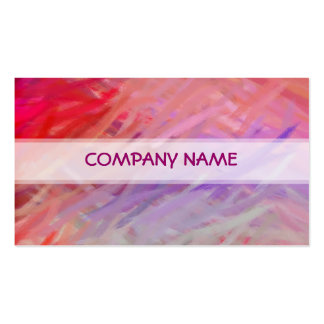 Red Purple Abstract Art Painting Pack Of Standard Business Cards