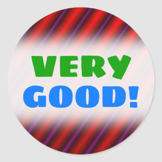 Red, Purple and Black Laser-Like Line Pattern Classic Round Sticker