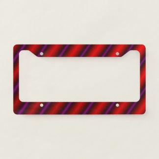 Red, Purple and Black Laser-Like Line Pattern Licence Plate Frame