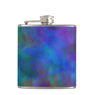 Red Purple Blue Watercolor Abstract Background Flasks