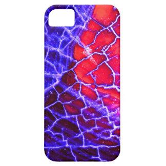 Red & Purple Cracked Quartz Crystal iPhone 5 Case