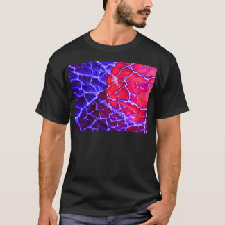 Red & Purple Cracked Quartz Crystal T-Shirt