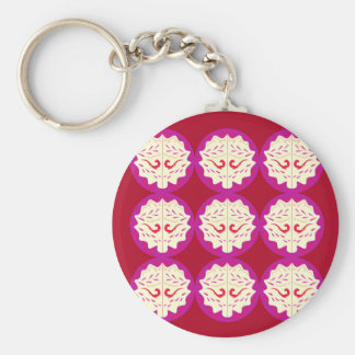 RED PURPLE ELEMENTS KEY RING