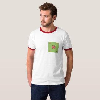 Red purple&green graphic design T-Shirt