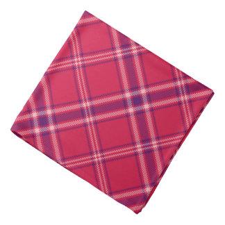 Red/Purple/Pink Tartan Plaid Bandana