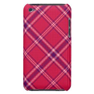 Red/Purple/Pink Tartan Plaid iPod Case